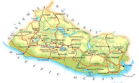 map of el salvador el salvador map mappery