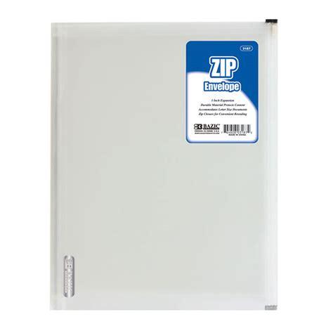 Letter Zip R Clear Letter Size Zip Envelope Mazer Wholesale