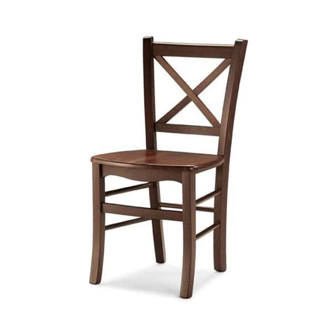 sturdy chair made entirely of wood for tavern idfdesign