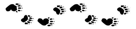 bear track tattoo designs paw outline cliparts co