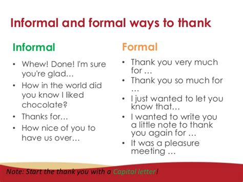 Thank You Letter To Esl How To Write A Formal And Informal Thank You Card