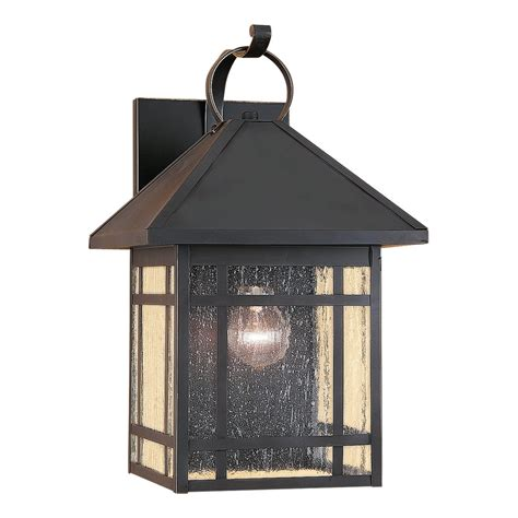 Outdoor Shop Lighting Shop Sea Gull Lighting Largo 16 75 In H Antique Bronze Outdoor Wall Light At Lowes