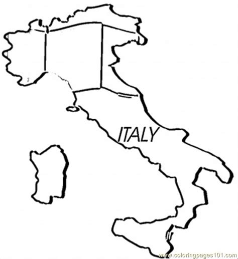 free coloring pages of italy on a world map