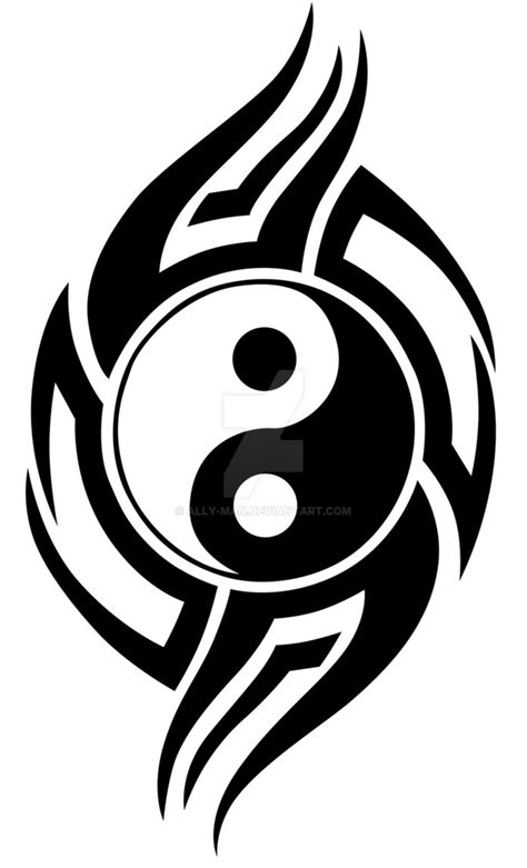 yin yang tribal tattoo tribal yin yang 001 vinyl graphic idea by ally