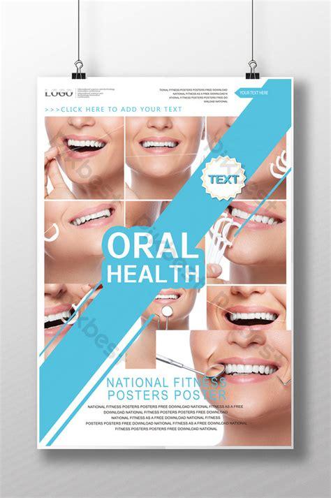 dental implant dental care promotion poster template psd