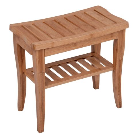 bamboo spa bench wood medical spa storage bamboo shower bench safety bath seat chair stool salon ebay