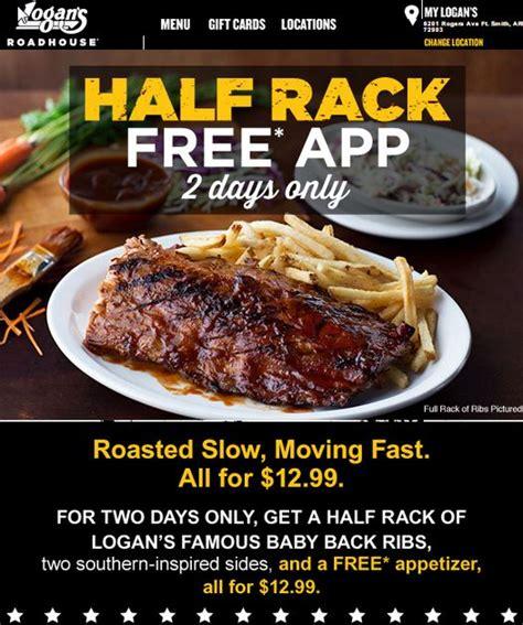 Half Rack Ribs Calories by Food Ads Logan S Roadhouse Razorback Britt