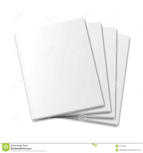 blank mockup templates blank covers mockup magazine template on white stock
