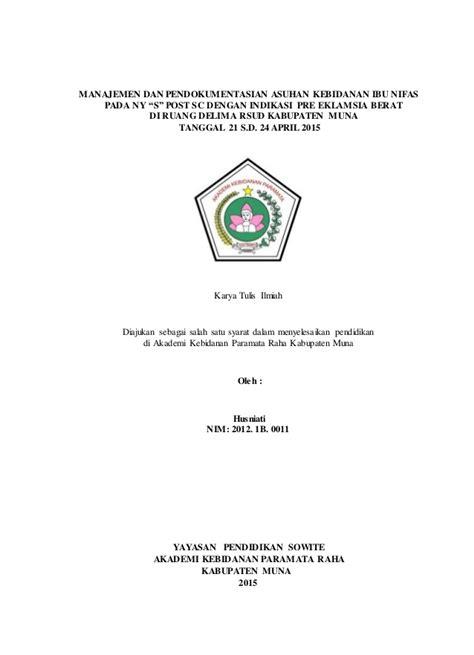 Asuhan Kebidanan Ibu Nifas Deteksi Dini Komplikasi Juraida Roito H kti akbid husniarti lengkap