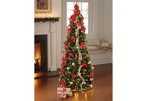 pop up ribbon christmas tree bq pop up 6ft led tree sharper image