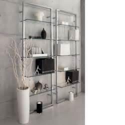 glass shelves bookcase glass shelves venice loft
