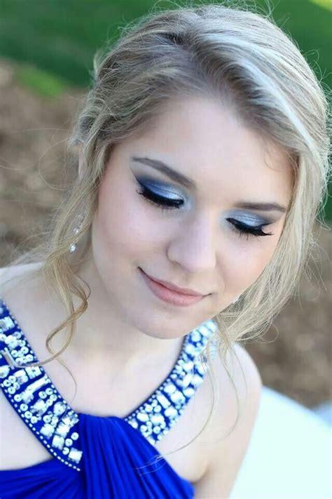 blue prom makeup prom makeup hair makeup beautiful makeup