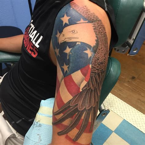 cross tattoo with american flag 85 best patriotic american flag tattoos i usa 2018