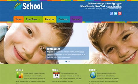 school templates free education school joomla template free joomlatemplates me