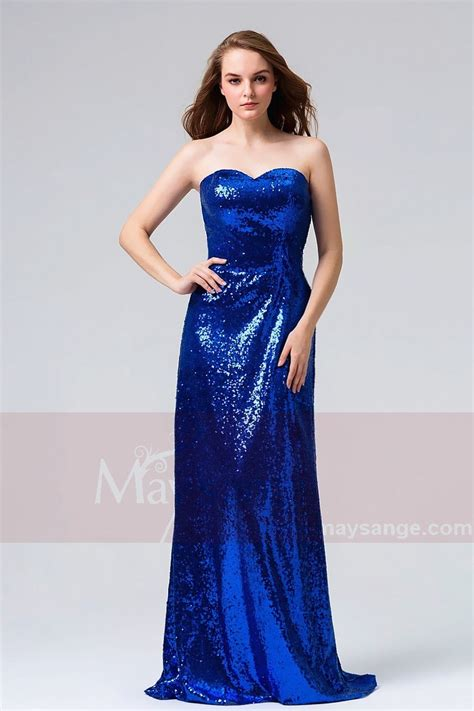 robe de soir 233 e longue bustier bleu roi paille tr 232 s habille - Robe Bustier Bleu Roi Mariage