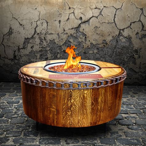 moderna wine barrel fire pit table