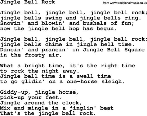 testo canzone jingle bell rock catholic hymns song jingle bell rock lyrics and pdf
