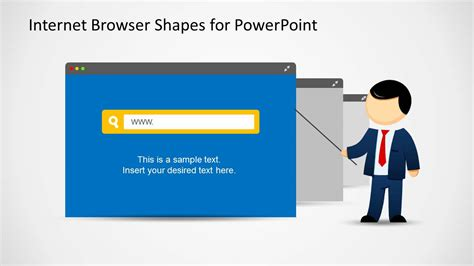 ppt themes internet web browser clipart template for powerpoint slidemodel