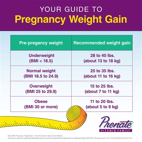 Vitamin Weight Gain guide to pregnancy weight gain prenate vitamin family