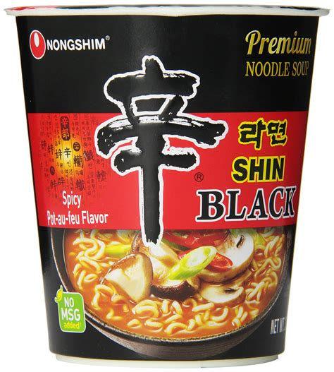 Nongshim Shinramyun Cup Noodle Soup nongshim shin cup noodle soup gourmet spicy 2 64 ounce pack of 12 packaged
