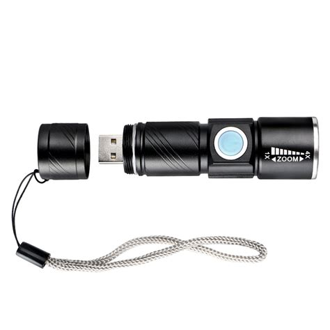 mini cree q5 led 1000 lm usb rechargeable zoomable focus