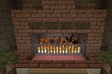image gallery minecraft fireplace