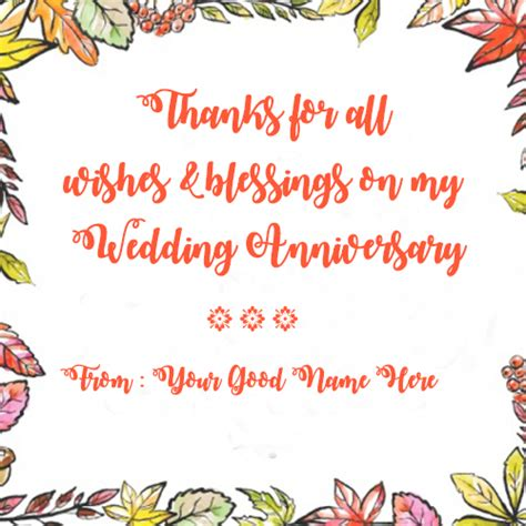 Wedding Anniversary Wishes And Blessings by Write Name On Wishes And Blessing For Anniversary Message