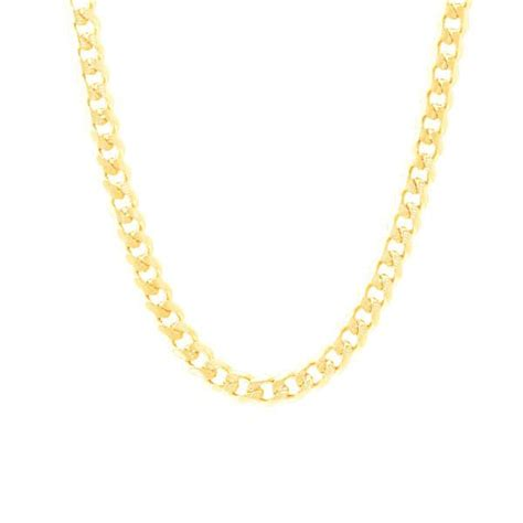 unisex gold curb chain necklace 22 inch apoptosisnyc