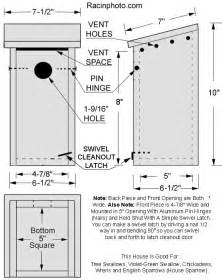 Free Wood Duck Nesting Box Plans by Tree Swallow Birdhouse Plans Plans Bird House Plans Owl