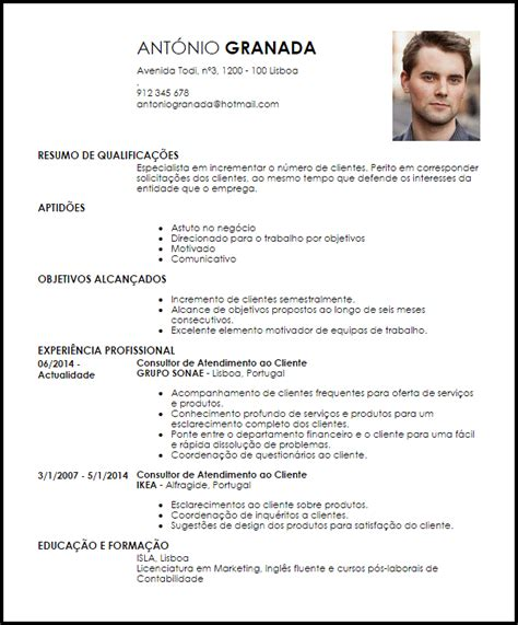 Modelo De Curriculum 2014 España Modelo Curriculum Vitae Consultor De Atendimento Ao Cliente Livecareer