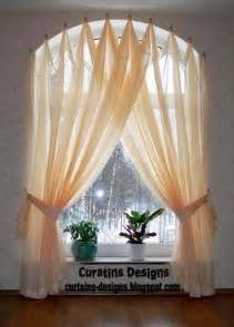 Arched Window Curtains Arched Windows Curtains On The Hooks Arched Windows Treatmentes