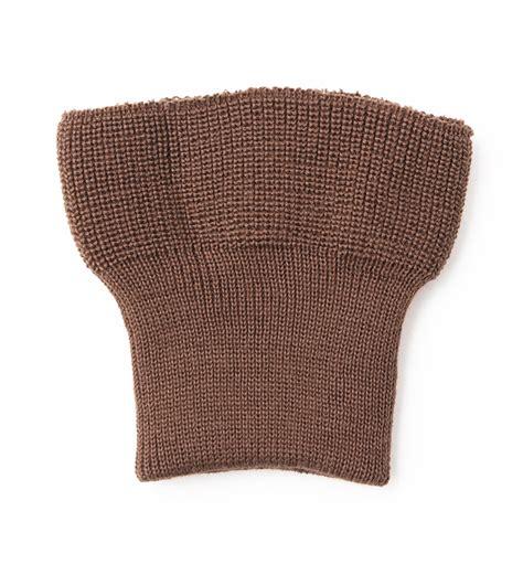 m o knits cuff knit waistband set russet brown repro m o c
