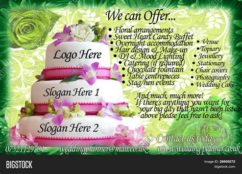 Wedding Planner Flyer by Wedding Planner Flyer Template Image Photo Bigstock