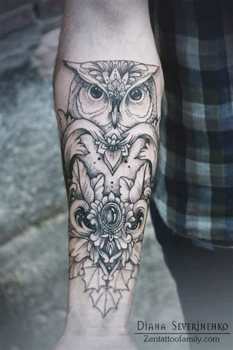 owl forearm tattoo owl tattoos for inspiration and gallery for guys