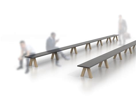 john pawson bench john pawson conceives trestle bench for viccarbe
