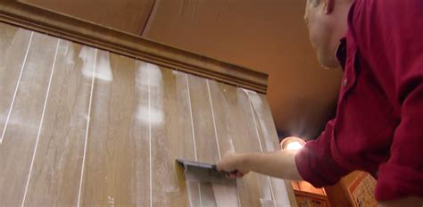 painting wall paneling how to fill grooves in paneling before painting today s