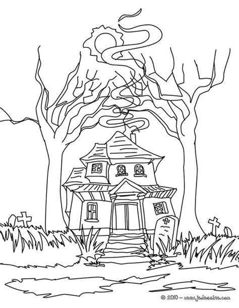 pueblo house coloring page coloriage chateau halloween coloriage maison hantee