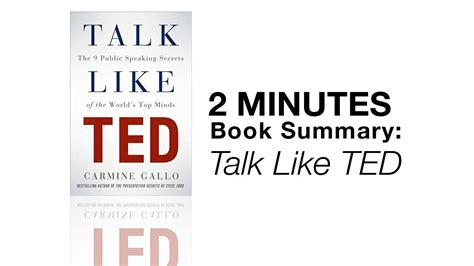 libro talk like ted the 2 minutes book summary talk like ted