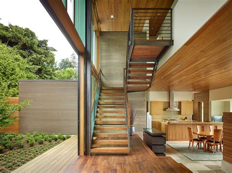 narrow home design portland waterfront view home on narrow lot maintains privacy