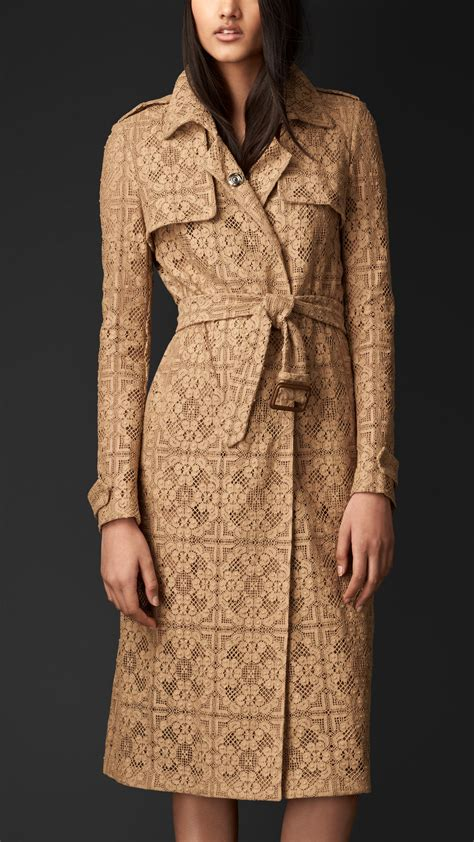Lust It Taylors Lace Trench by Lyst Burberry Lace Trench Coat In