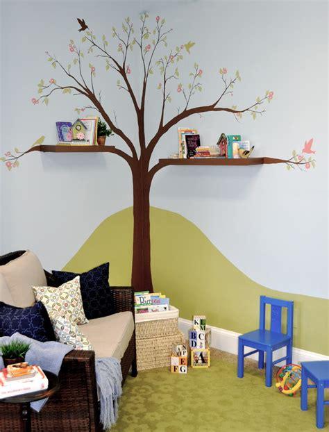 amazing interior design from moomin books kids corner shocking tree of life canvas painting decorating ideas