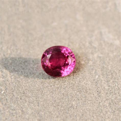 Fancy Sapphire 1 1 81 ct reddish pink oval sapphire haruni gems