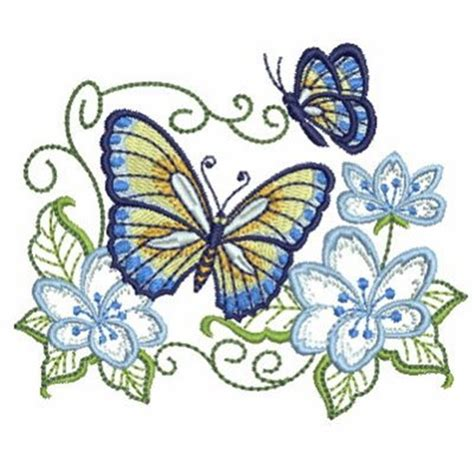 Bv4765ls Embroidery Flower And Butterfly butterfly flowers embroidery designs machine embroidery
