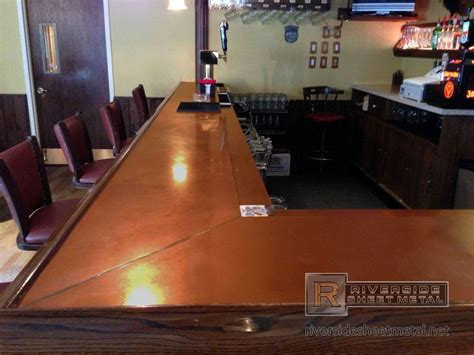 copper top bar copper top bar copper bar top with beer tray and