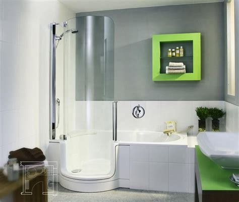bath shower units combined twinline tub shower combo apartment therapy