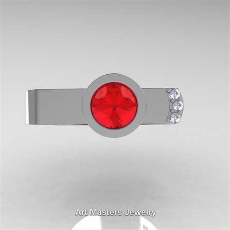 Ruby 6 0 Ct modern italian 14k white gold 1 0 ct ruby