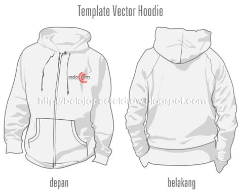 desain jaket hoodie coreldraw desain sweater cdr cardigan with buttons