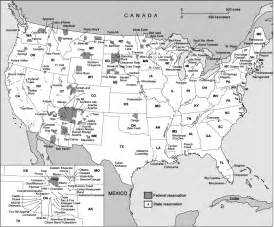 indian reservations map maps from nations to palestine
