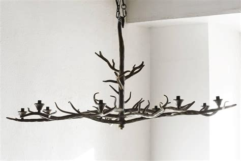 Handmade Tree Branch Chandelier Steel At 1stdibs Branch Chandelier Lighting