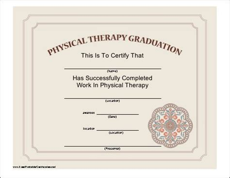 vestibular rehab certification an attractive certificate certifying the completion of a